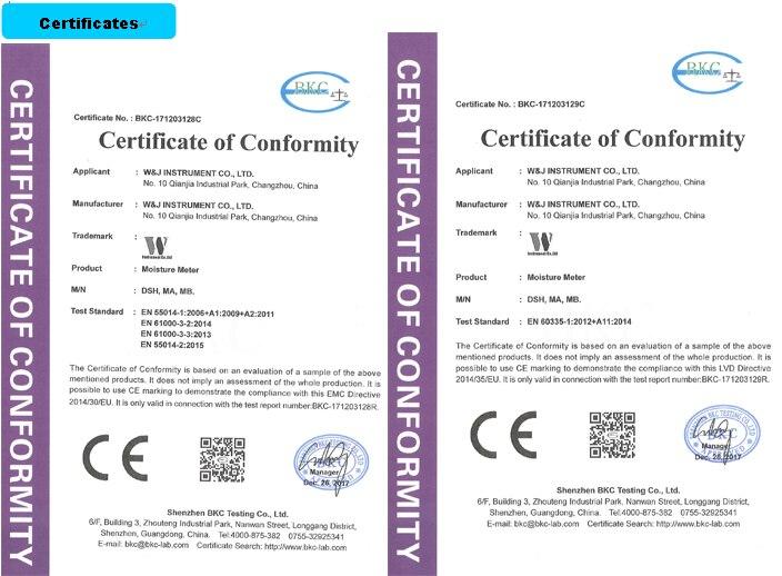 certificate-moisture