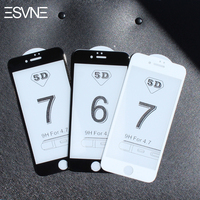 ESVNE 5D (3nd Gen 3D 2nd Gen 4D) Curved Edge Tempered Glass for iphone 8 6 glass 6s 7 8 plus Screen Protector film 9H Hardness
