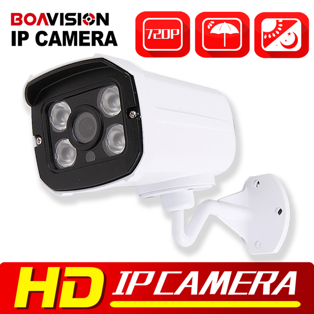 HD 720P IP Camera Outdoor Bullet H.264 CMOS Security Camera IR Night Vision 3.6mm Lens Surveillance 1.0MP IP Camera Onvif