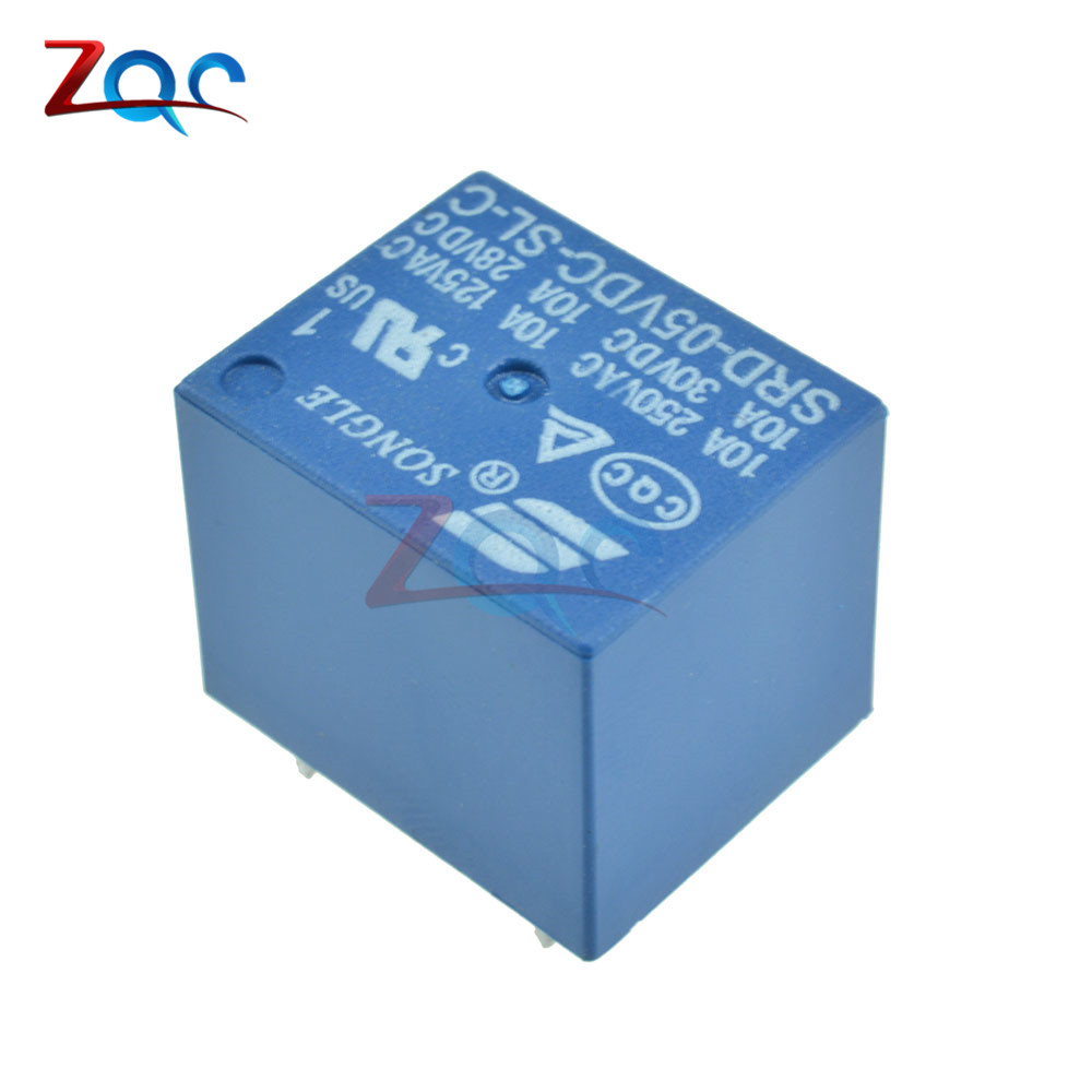 5pcs Mini Power Relay 5V DC SRD-5VDC-SL-C SRD-5VDC-SL-C PCB relays srd 12vdc sl c pcb type 12v dc songle power relay
