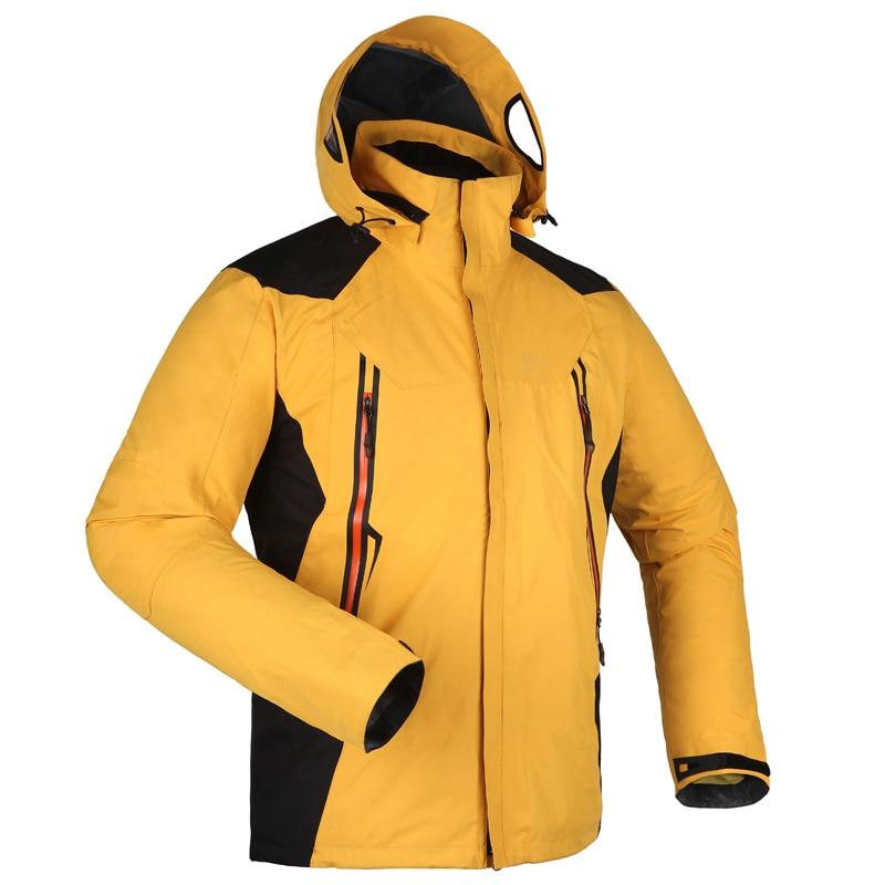2 en un veste en plein air hiver chasse coupe-vent Ski manteau randonnée pluie Camping pêche vêtements Sport vestes hommes manteau