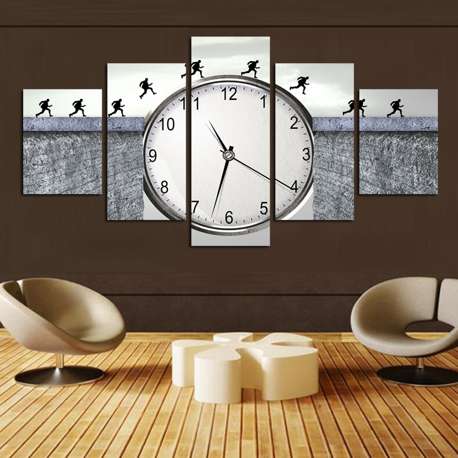 New Canvas Painting Running Man 5 Piece Canvas Picture