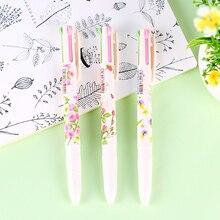 40 sztuk/partia kwiatowy długopis 4 kolor roller długopis do nauki pisania zakładki biurowe biurowe szkolne 6526