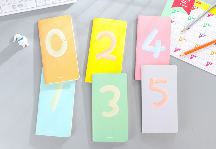 Fresh number Notebook Diary Pocket Notepad Promotional planer work diary office school korean papelaria number