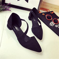 2016 Summer New Fashion Pointed Toe Flock Sexy Casual Office Shoe Women Flat Shoe HSC25