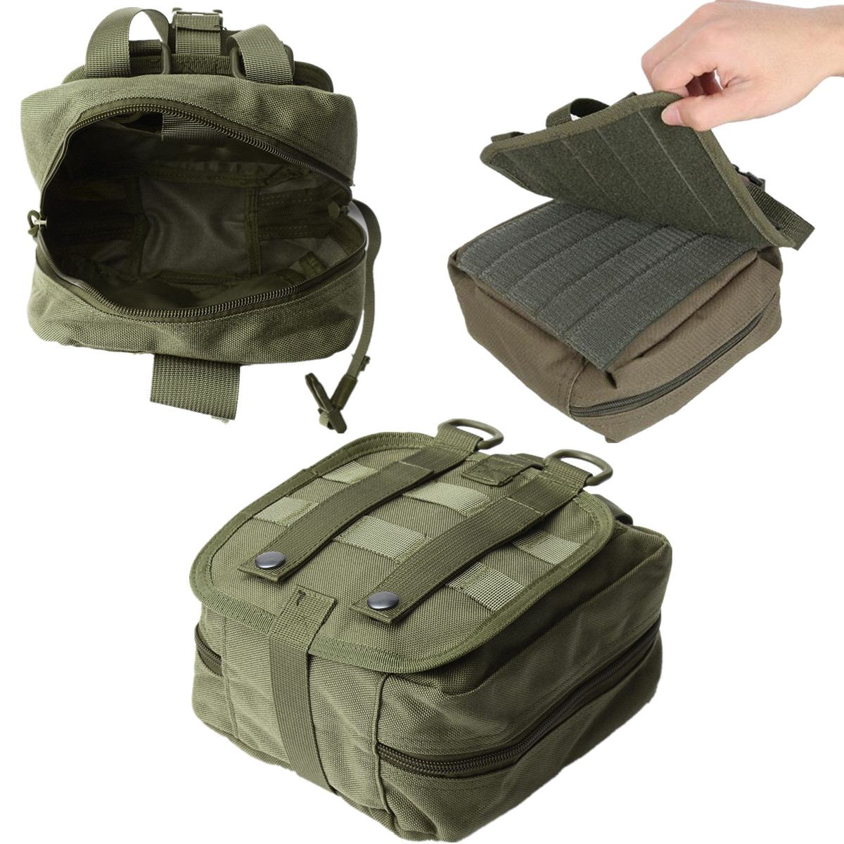 NEW Empty Bag Tactical Medical First Aid Utility Pouch Emergency Bag For Vest & Belt Treatment Pack Outdoor outdoor tactical emergency medical first aid pouch bags survival pack rescue kit empty bag