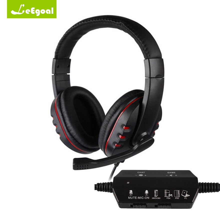 Leegoal Gaming Wired Headphone with Microphone Noise Cancelling Gaming Headset Usb Wired Headphones for PS4/PS3/XBOX 360/PC