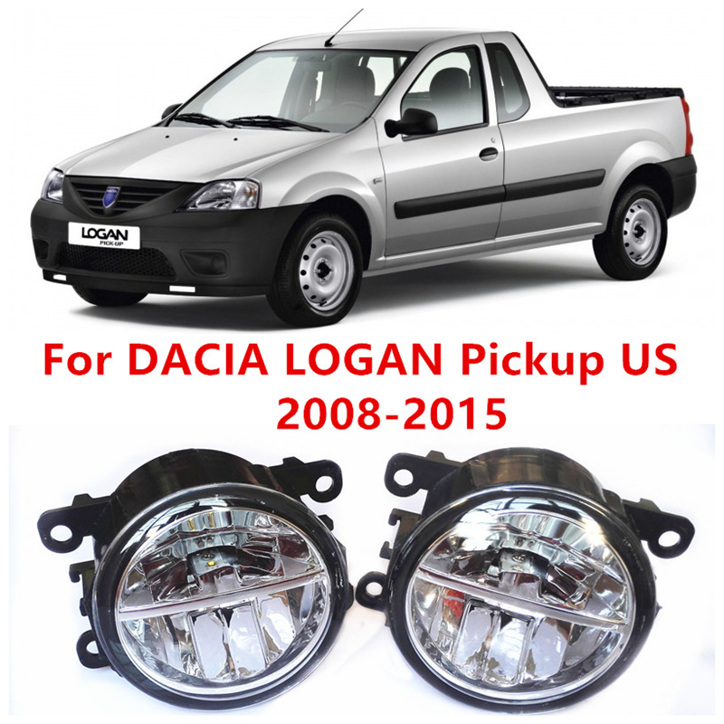 где купить For DACIA LOGAN Pickup US  2008-2015  10W Fog Light LED DRL Daytime Running Lights Car Styling lamps по лучшей цене