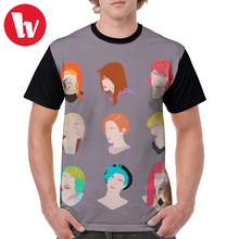 Paramore T Shirt Hayley Pattern T-Shirt Cute Short Sleeves Graphic Tee Streetwear 100 Polyester Print 6xl Male Tshirt