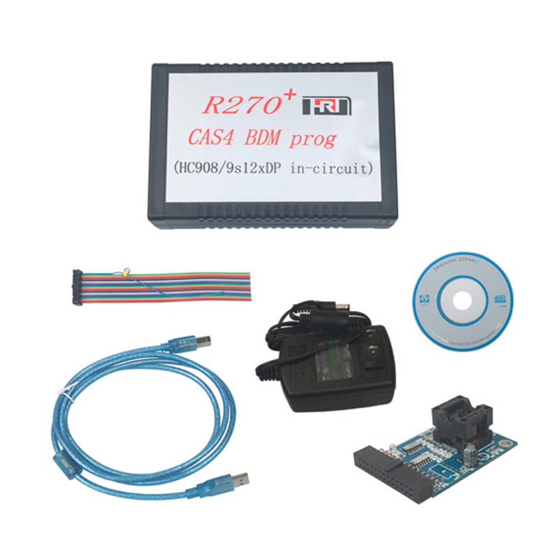 R270+ CAS4 BDM Programmer For BW Auto Key Programmer R 270 V1.20 Key Prog Car OBD2 Diagnostic Tool Scanner JC10