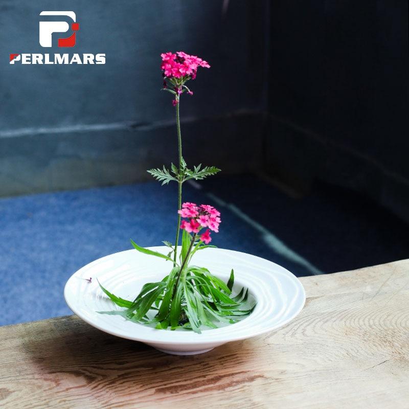 Japanese Style Vintage Ikebana Ceramic Vase Coarse Pottery
