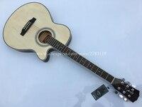 Тонкий средства ухода за кожей гитары 40 Cutaway электрическая акустическая S, полный бас Топ/средства ухода за кожей ra eletrica с ЖК