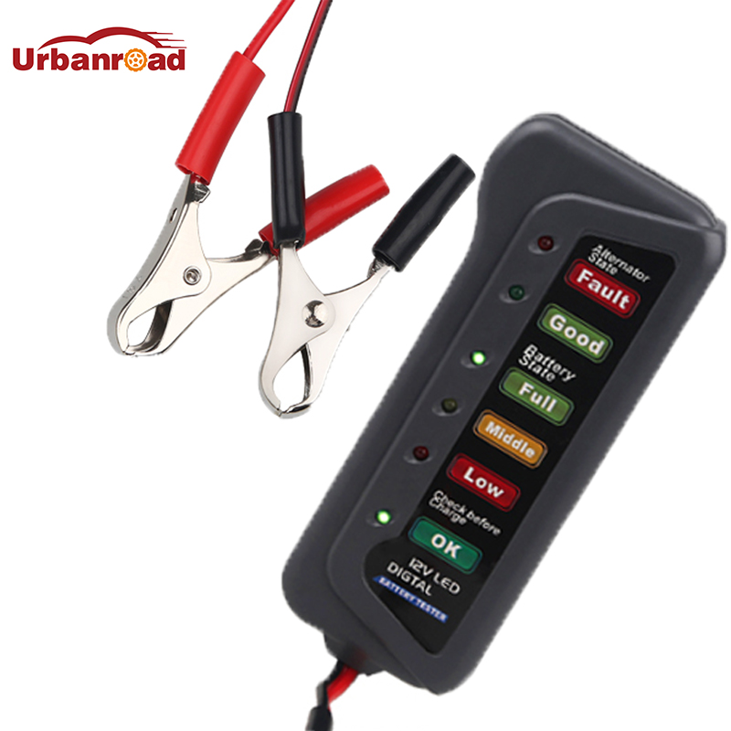 12V 24V Battery Tester Test Battery Condition And Alternator Charging Diagnostic Tool For Cars Motorcycle Battery