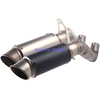 Motorcycle Slip On CBR1000RR Exhaust Pipe System Connect Link Pipe Middle Pipe with Carbon Fiber Exhaust Pipe Moto Escape