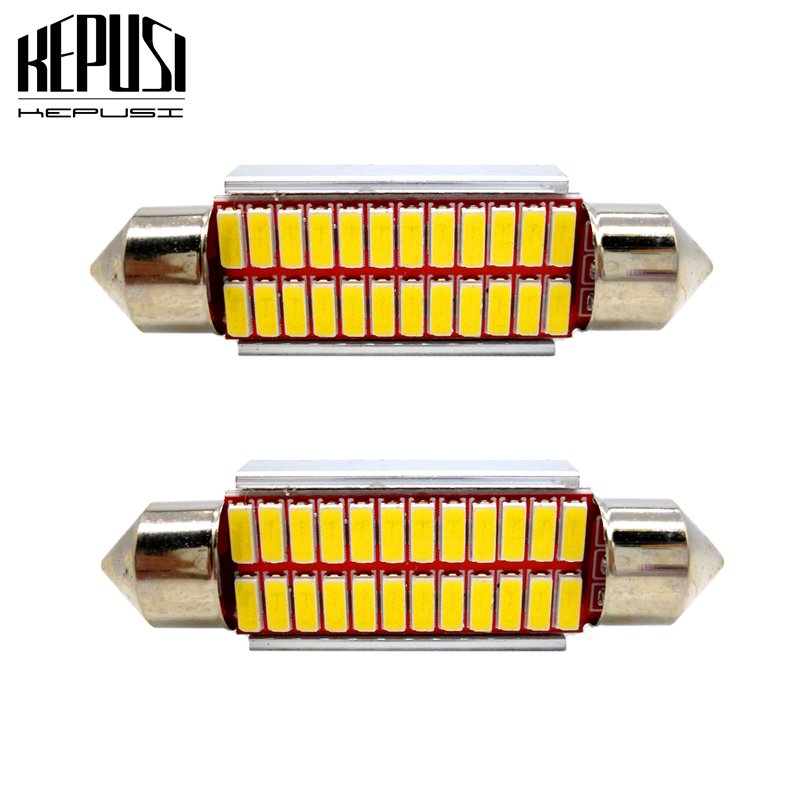 Domo 41mm Festoon 16 LED Luz Festoon domo C5W C10W Lámpara de lectura blanco 24v