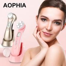 AOPHIA beauty Machine 5в1 РЧ EMS радио мезотерапия электропорация лица Радио Частота светодиодный фотон омоложение удаления морщин