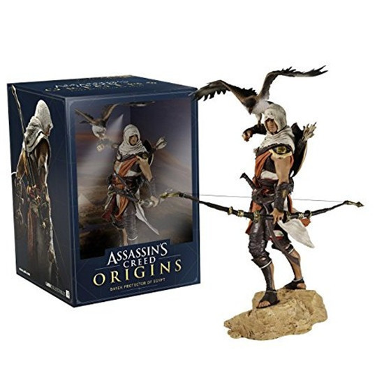 Assassins Creed Assassin's Creed Origines Bayek Protecteur With His Eagle PVC Action Figure Model Kids Toys Christmas Gift 28CM 24cm pvc deadpool action figure breaking the fourth wall scene dead pool kids birthday christmas model gift toys