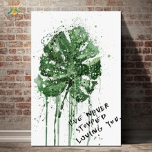 Watercolor Plant Leaf Nordic Poster Nature Wall Art Canvas Prints and Posters Painting Home Decoration