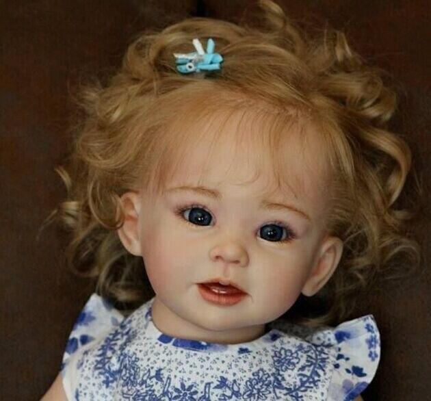 NPK New model hotsale reborn doll kit Aby Rev DIY blank kit soft silicone vinyl real gentle touch