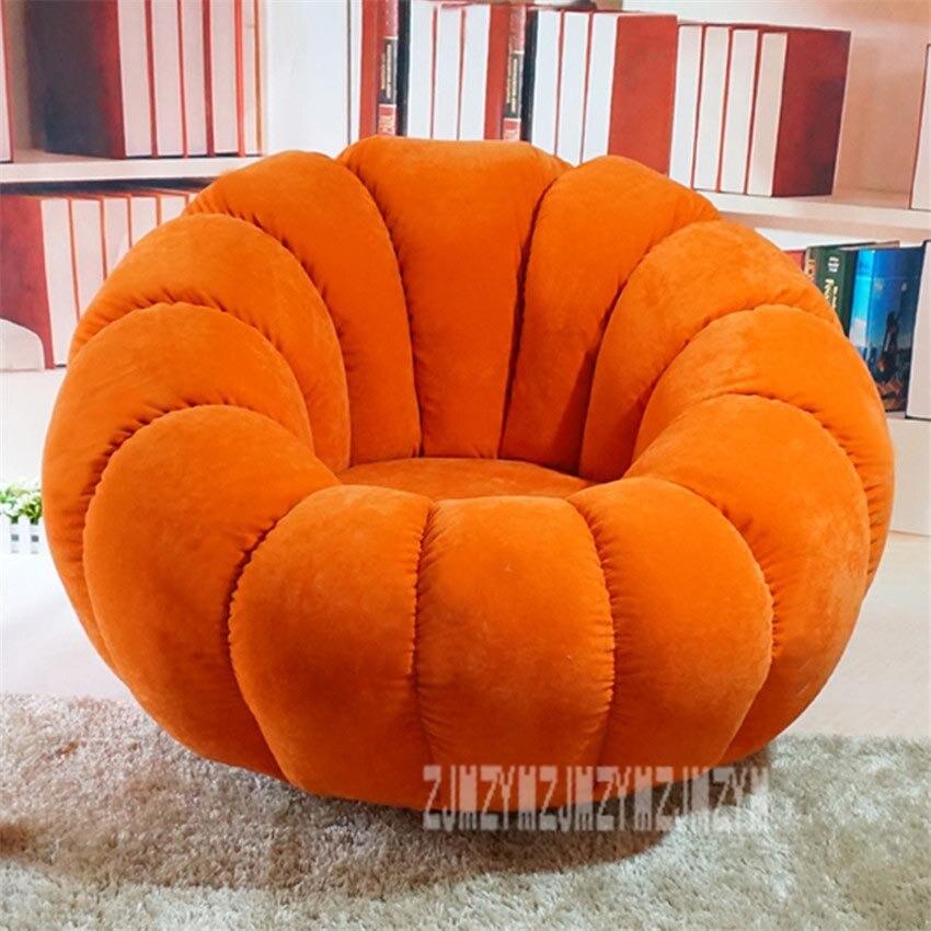 Вращающийся современный дизайн в виде тыквы шезлонг ленивый мягкий стул для гостиной диван мебель кушетка безногий стул домашняя мебель моющийся