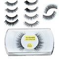 50 par Preto Mink Falso Pestanas Falsas 3D Natural Longo Extensão Cílios Postiços Eye Makeup Lashes