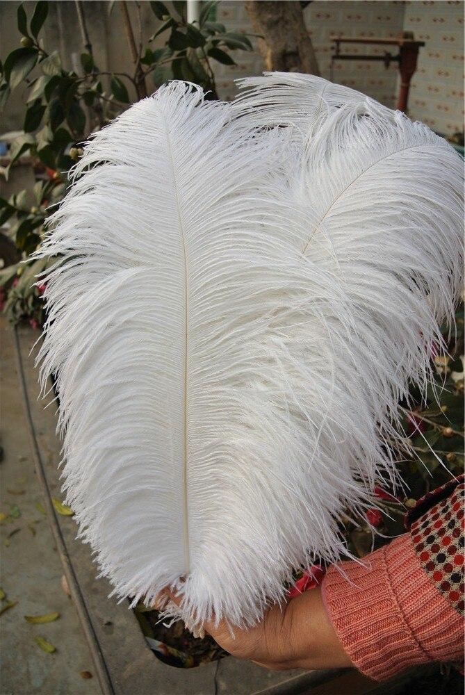 Дешевые страусиных перьев чистый белый 18-20 дюймов Свадебные украшения центральным Eiffel центральные
