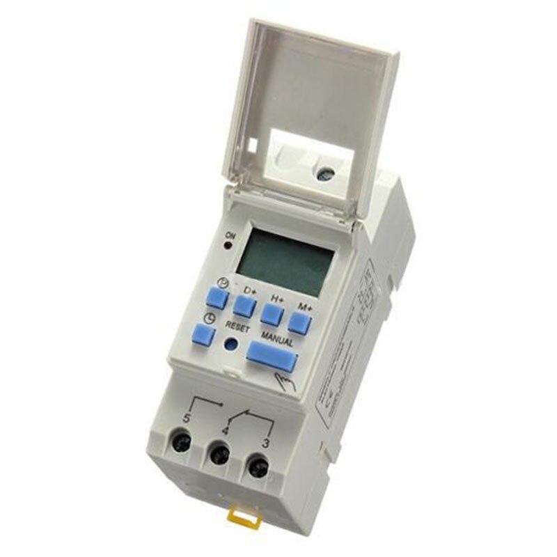 AYHF-DIN Rail Time Relay Switch Digital LCD Power Programmable Timer DC 12V 16A 5pcs lot x din rail time relay switch digital lcd power programmable timer dc 12v 16a
