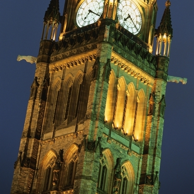 Clock Tower Of Canadian Parliament Buildings Poster Print (11 x 18)