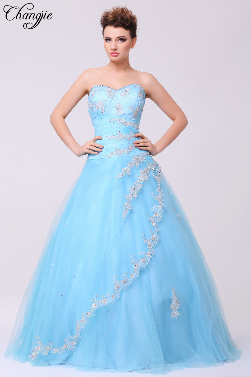 Compare Prices on Light Blue Prom Dress Ball Gown- Online Shopping ...
