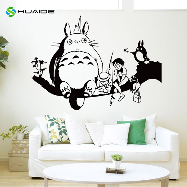 Beautiful HUAIDE Japanese Cartoon Totoro Wall Decal My Neighbor Totoro Wall Stickers  For Kids Rooms Nursery Bedroom