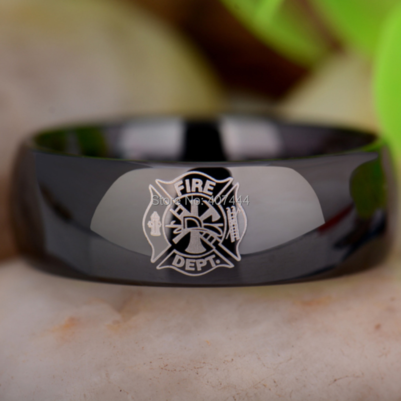 fireman firefighter wedding - Firefighter Wedding Rings