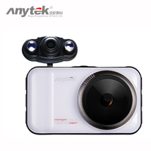 Anytek A1H Car DVR 3.0 Vehicle Car Camera Dual Cameras Car Camcorder Full HD Night Vision Video Recorder with Rear View Camera