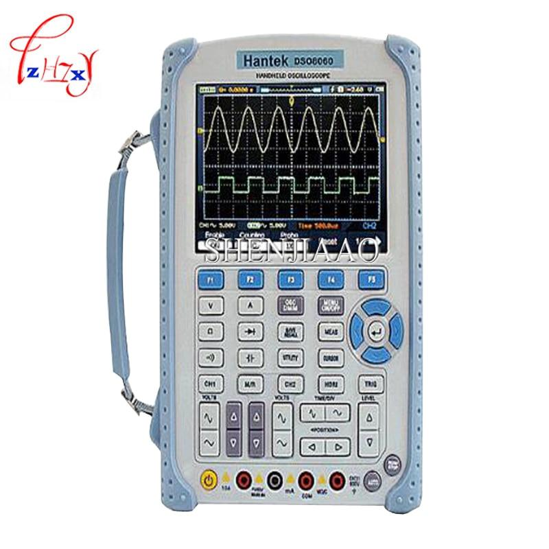 New Hantek DSO8060 Oscilloscope Handheld Portable Digital Multimeter Oscilloscope USB LCD 60MHz 2 Channels DMM Spectrum Analyzer