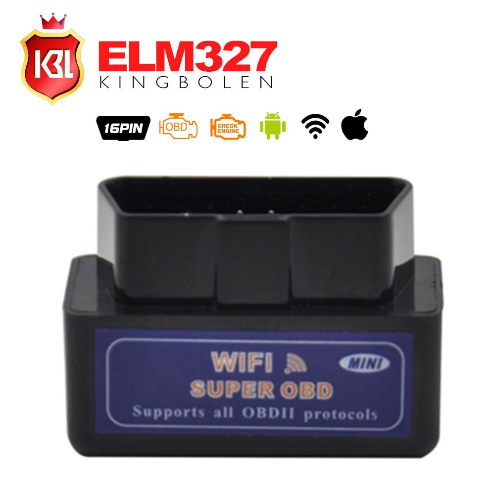 Prix pour New Blue Mini WiFi ELM327 OBD2 Voiture Auto Diagnostic De Numérisation outil mini elm 327 wifi pour iphone pour ipad pour iPod/Android
