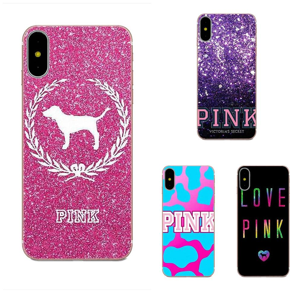 For Huawei P7 Honor 4C 5A 5C 5X 6 6C 6A 6X 7 7X 8 9 V8 V10 Y3II Y5II Y6II  G8 Play Lite Lovely Pink Victoria Secret Background