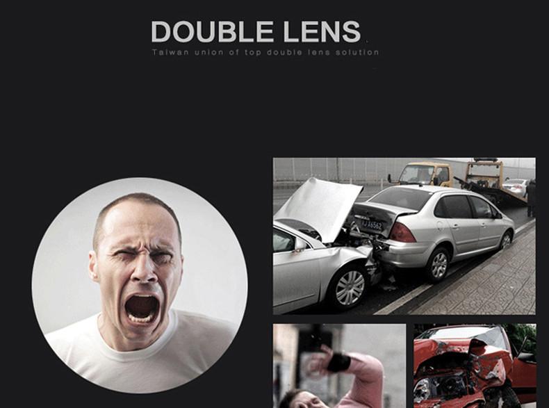 E-ACE Car Dvr Rearview Camera Mirror Auto Dashcam Video Recorder Automobile Full HD1080P Camcorder Dual Camera Lens Registrator 4