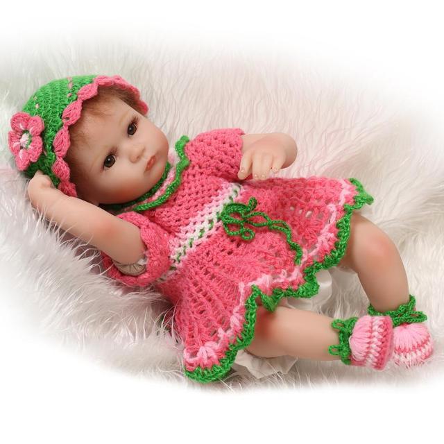 18Inch New Born Baby Dolls Bebe Reborn Menina Children Best Gift Silicone Reborn Baby Dolls for Kids Handmade Princess Bonecas