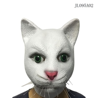 Fashion Halloween Mask Latex Thicker Male Female Mask Fox Cute Cat Head Set White Cat Party