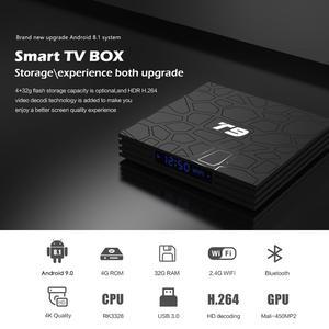 Image 2 - חכם טלוויזיה תיבת T9 אנדרואיד 9.0 4GB + 32GB 1080P 4K YouTube מולטימדיה נגן WIFI 2.4G Quad ממיר ליבה pk X96 hk1 h96