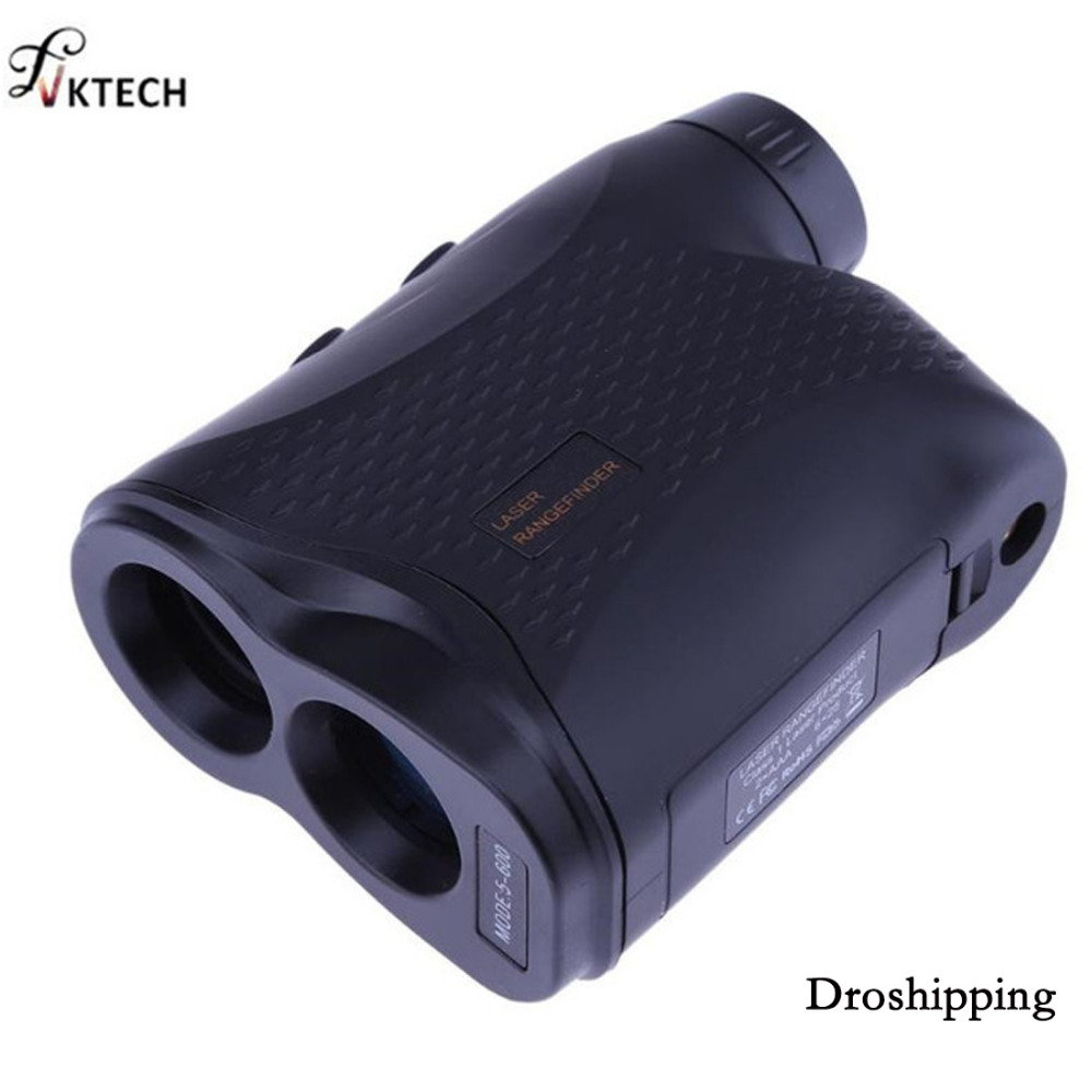 600M Monocular Telescope Laser Rangefinder Telescope for Outdoor Hunting Golf Range Finder Measure Distance Speed Meter