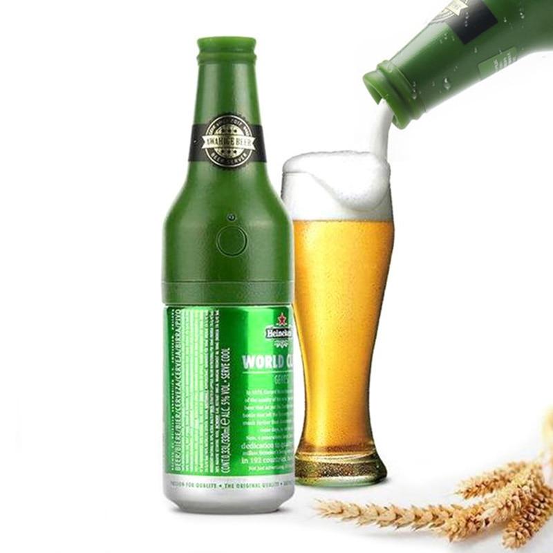 New Creative Sparkling Ultrasonic Beer Foamer Canned Beer Foam Maker Bottle Electric Beer Frother Foamer Kitchen Bar Wine Tools