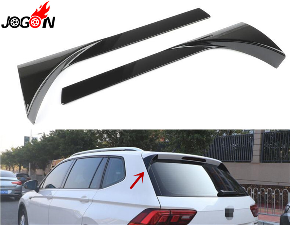 Accessories ABS Gloss Black Rear Wing Side Spoiler Lip For Volkswagen VW MK2 TIGUAN 2017 2018
