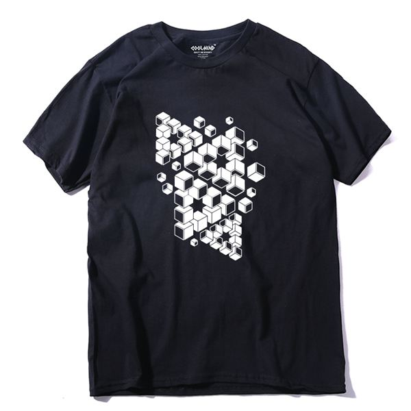 COOLMIND QI0242A 100% cotton cool fashion men t shirt casual short sleeve men t-shirt fashion men tshirts tops tee shirt