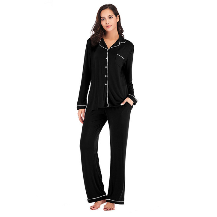 Image 4 - Winter Pajama Sets 2 Pieces Women Lounge Suit Velvet Elastic Long Sleeves Stretch Sleepwear Pants Tops Satin Plus Size ouc041-in Pajama Sets from Underwear & Sleepwears