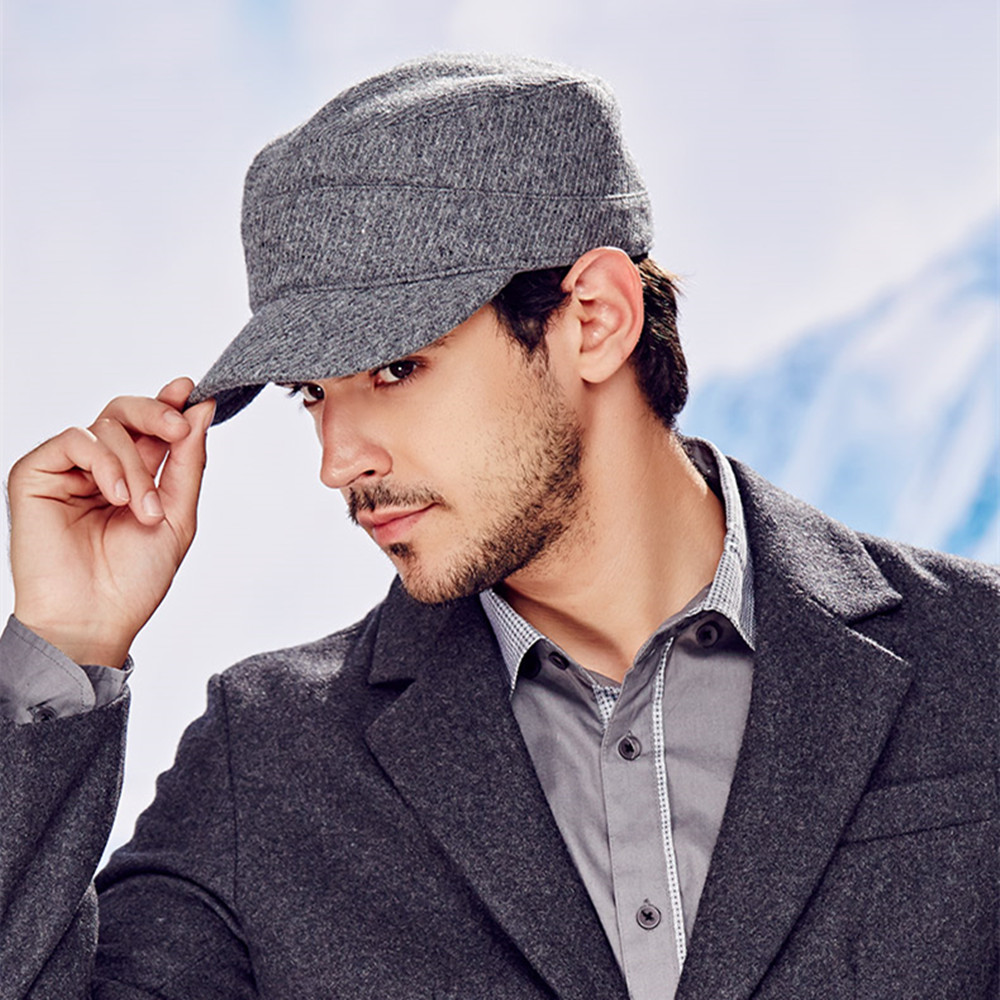 884307c0327 KENMONT Men Woolen Army Cadet Military Hat Chic Ski Baseball Cap Adjustable  New 2418-in Military Hats from Apparel Accessories on Aliexpress.com