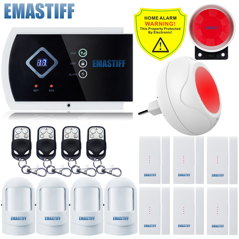 Wireless Indoor Flash Colorful Color Siren gsm 433MHZ alarm system smart APP home security System Built-in speaker for intercom free shipping guard english french app wireless gsm pstn phone alarm security system built in speaker for intercom security