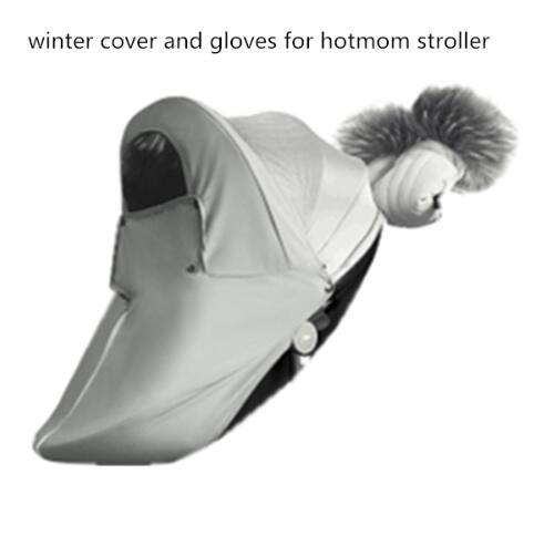 Hot Mom Stroller Winter Kit Basket Protection,pushchair Gloves, Foot Muff, Rain Visor, Artifical Fur Trim Protection Cover For T