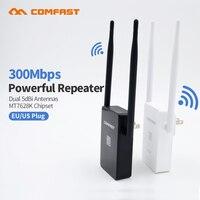Comfast wifi مكرر 2 العالمي repitidor فاي amplificador الموسع 300 الموجهات اللاسلكية 300mbps إشارة هوائي 10dbi extende