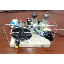 Túi mật đài phát thanh điều chế Tần Số Bộ dụng cụ, FM 2 đèn siêu tái tạo điện tử Ống 6J1 + 6J1 Ổ sừng