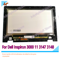 11.6 laptop replacement LCD touch screen digitizer glass unit for For Dell Inspiron 3000 11 3147 3148 LP116WH6 SP A2